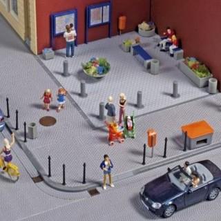 Set de décors urbain-HO-1/87-AUHAGEN  41639