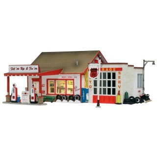 Ancienne station service -HO-1/87-WOODLAND SCENICS BR5025