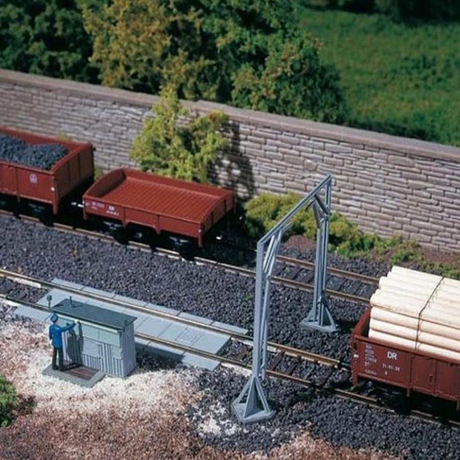 Bascule à wagon + gabarit-HO 1/87-AUHAGEN 11404
