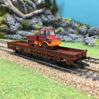 Wagon plat camion benne -HO-1/87-MARKLIN 00753-08 DEP17-346