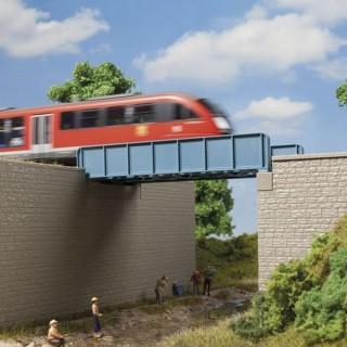 Pont à poutres composées-HO 1/87-AUHAGEN 11441