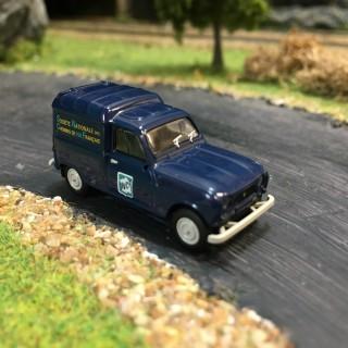 Renault 4L fourgonnette SNCF-HO-1/87-BREKINA 14741