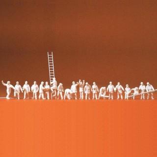 20 pompiers à peindre -N-1/160-PREISER 79004