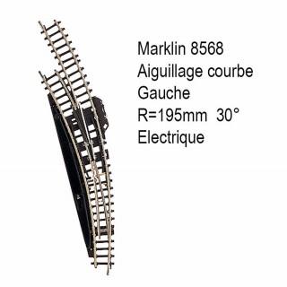 Rail aiguillage courbe R 195mm 30degrés électrique -Z 1/220-MARKLIN 8568