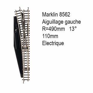 Rail aiguillage gauche R 490 110mm électrique -Z 1/220-MARKLIN 8562
