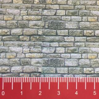 Plaque cartonnée mur de pierres-N 1/160-VOLLMER 47366