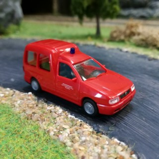 VW Caddy intervention pompiers-HO-1/87-RIETZE 50859