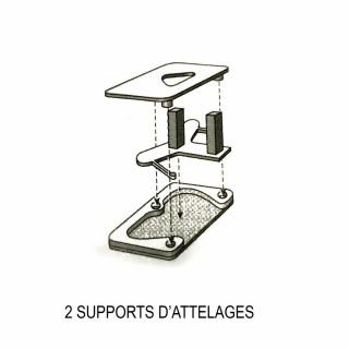2 supports attelages NEM-1/87-RIBUTRAIN 85504