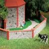 Mur d'enceinte en pierre-HO 1/87-AUHAGEN 42651
