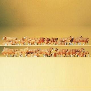 Troupeau de 30 vaches-HO-1/87-PREISER 14409
