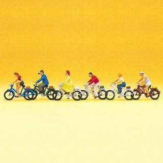 5 Cyclistes-HO-1/87-PREISER 10091