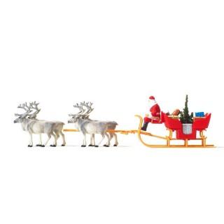 Père Noël + Attelage-HO-1/87-PREISER 30399