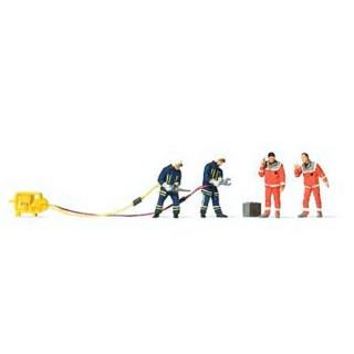 Pompiers + accessoires-HO-1/87-PREISER 10625