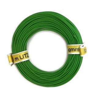 Câble vert souple cuivre 10ml 0.14mm² HERKAT 3612