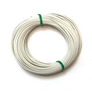 Câble blanc souple cuivre 10ml 0.14mm² HERKAT 3616