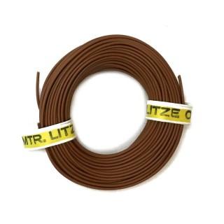 Câble marron souple cuivre 10ml 0.14mm² HERKAT 3617