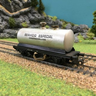 Wagon citerne nettoyeur-HO-1/87-ELECTROTREN1107/7 DEP64-128