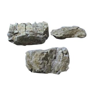 Moule flexible de 3 rochers aléatoires -HO et N-WOODLAND SCENICS C1234