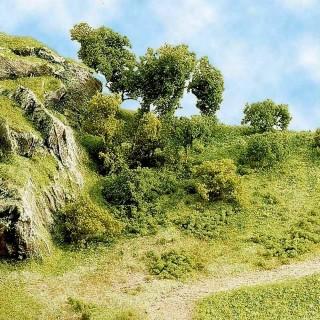 """Flocage herbe """"vert fonçé"""" 20g-Toutes échelles-BUSCH 7110"""