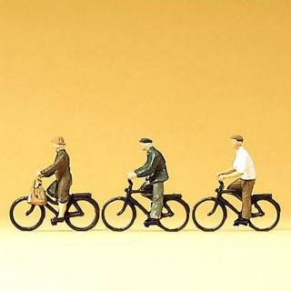 3 cyclistes personnes agées -N-1/160-PREISER 79087