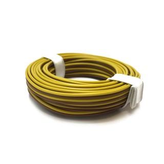 Câble jaune et marron souple cuivre 5ml 0.14mm² BUSCH 1780