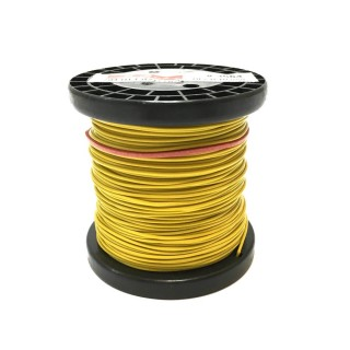 Câble jaune souple cuivre 50ml 0.14mm² HERKAT 3664