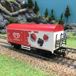 Wagon Langnese (Miko) frigorifique-HO-1/87-MARKLIN DEP89-024