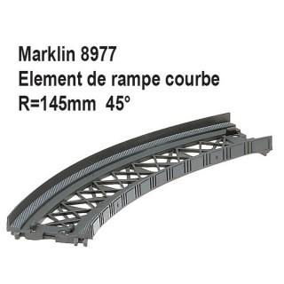 Element de rampe courbe R 145mm 45 degrés-Z 1/220-MARKLIN 8977