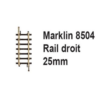 Rail droit 25mm-Z 1/220-MARKLIN 8504