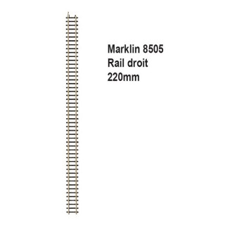 Rail droit 220mm-Z 1/220-MARKLIN 8505