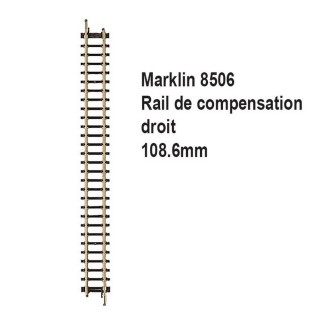 Rail de compensation droit 108.6mm-Z 1/220-MARKLIN 8506