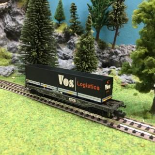 Wagon kangourou VOS Logistics-N-1/160 -MINITRIX DEP53-13