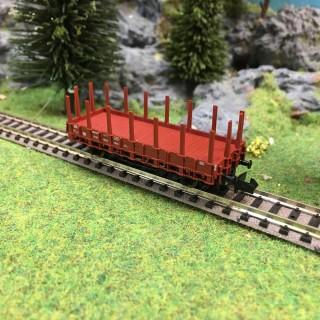Wagon plat à ranchers-N-1/160-FLEISCHMANN DEP89-124