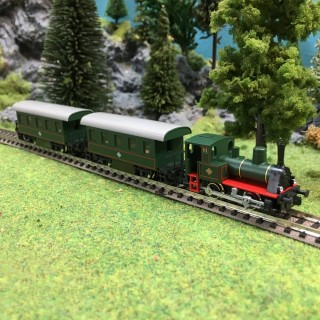 Locomotive D6 Bavaroise + 2 voitures-N 1/160-KATO K10-500-1