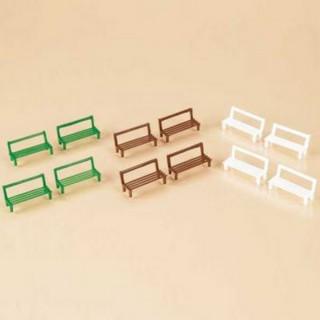 12 bancs en 3 couleurs-HO 1/87-AUHAGEN 42650
