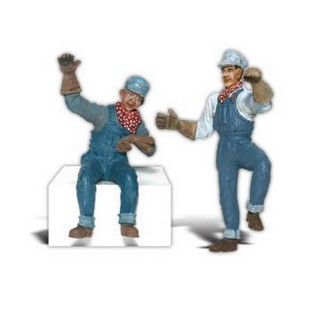 "Mécaniciens ""Earl et Eddie""-G 1/22.5-WOODLAND SCENICS A2540"