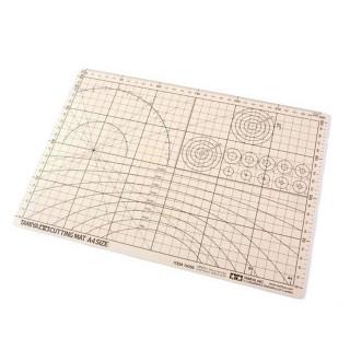 Plaque de découpe format A4 beige-Toutes échelles-TAMIYA 74056