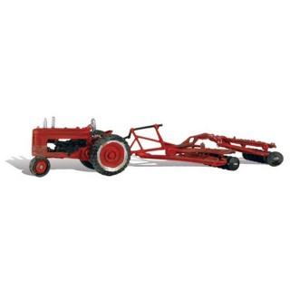 Tracteur avec brises-mottes-HO-1/87-WOODLAND SCENICS AS5564