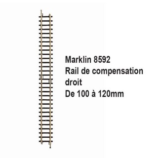 Rail de compensation droit 100mm à 120mm-Z 1/220-MARKLIN 8592