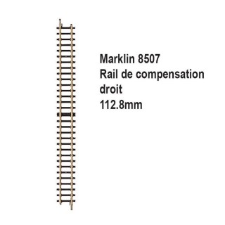 Rail de compensation droit 112.8mm-Z 1/220-MARKLIN 8507