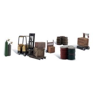 Eléments de chargement de quai-HO 1/87-WOODLAND SCENICS A1934