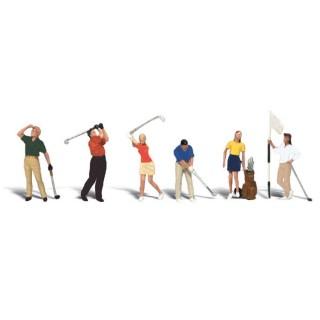 6 golfeurs + accessoires-HO 1/87-WOODLAND SCENICS A1907