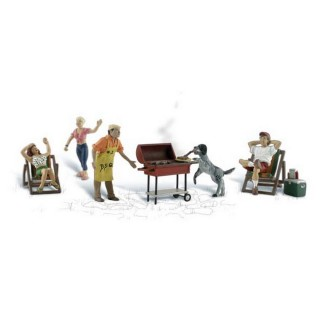 Scène de barbecue-HO 1/87-WOODLAND SCENICS A1929