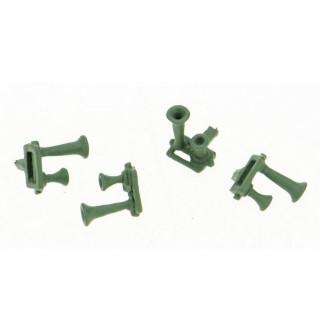 4 Klaxons 2 trompes Bi-ton -HO-1/87-REE XB-522