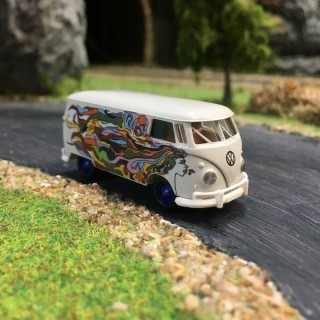 VW Combi Split Hippies-HO-1/87-BREKINA 32686
