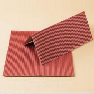 2 plaques de carton ondulé couleur rouille-HO 1/87-AUHAGEN 50112
