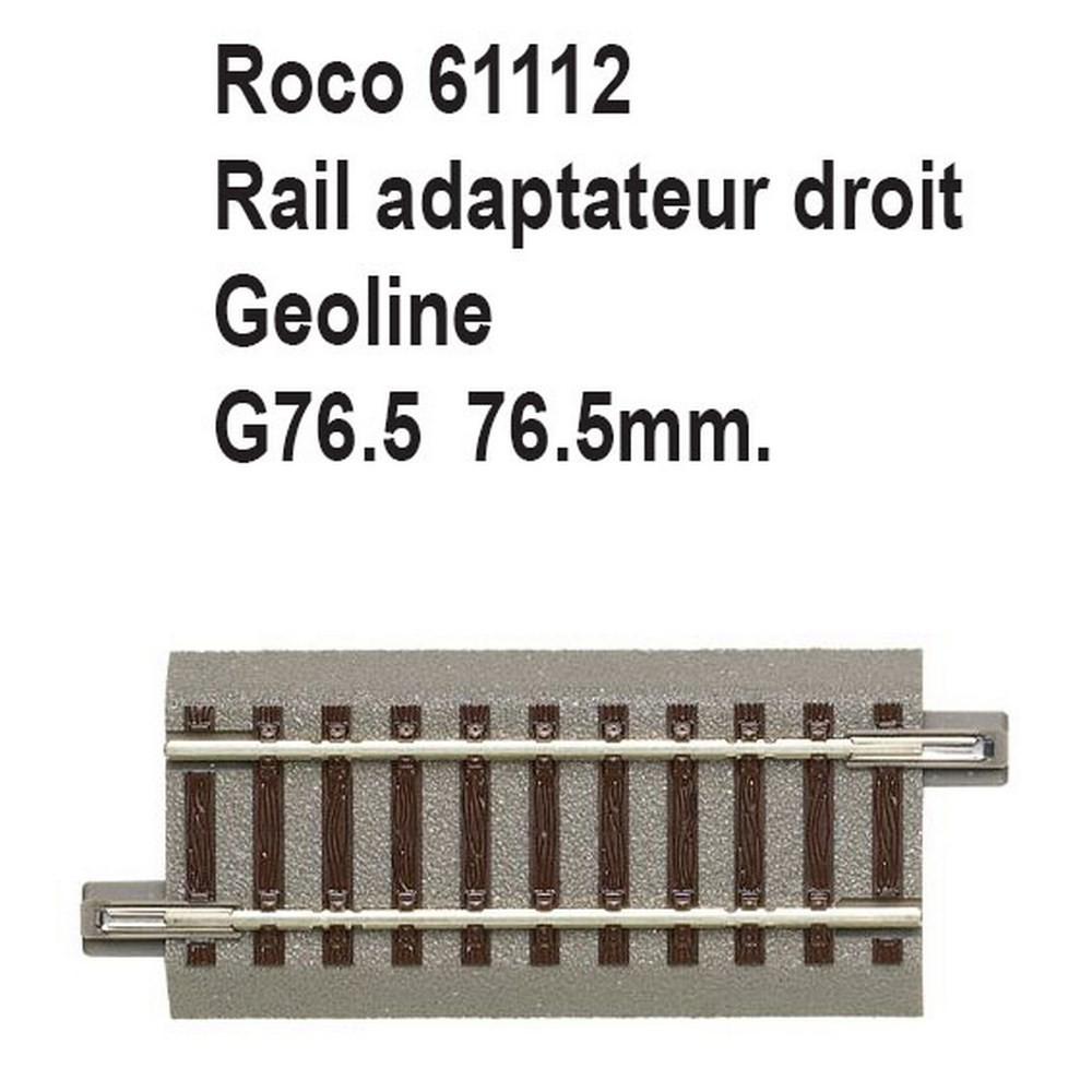 Roco Geoline Voie /_ 61113-coupe droite voie g100 r412