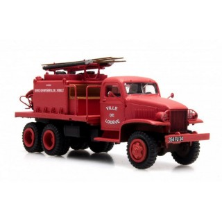 Camion GMC Pompiers Lodeve-HO-1/87-REE CB-082