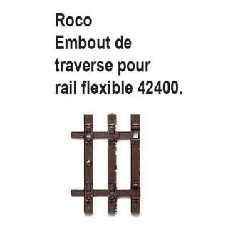 Embout de traverse pour rail flexible 42400 code 83 -HO-1/87-ROCO 42600