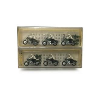 6 motards de la police-1/90-Preiser 68 DEP40-36